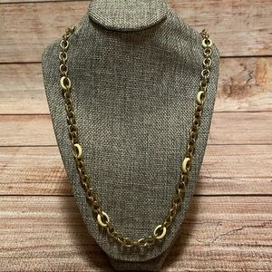 J Crew Simple Thin Gold Necklace with Accent Links